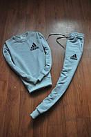 Спортивный костюм Adidas серый цвет, маленький логотип, ф2581