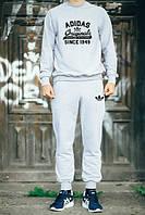 Спортивный костюм серый адидас ориджинал, женский, ф663