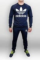 Спортивный костюм синий адидас, хлопковый, ф700