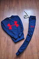 Спортивный костюм Under armour синий, красный принт, ф724