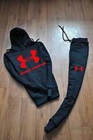 Спортивный костюм Under armour черный, красный принт, ф727