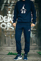 Спортивный костюм Jordan синий, регланом, ф2586