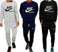 Спортивный костюм найк, серый, синий, черный, модный, ф2611