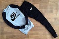 Спортивный костюм Nike черные штаны и рукава, серое туловище, ф2620