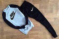 Спортивный костюм найк, черные рукава и штаны, серое туловище, ф2629