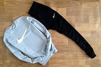 Спортивный костюм Nike серый верх, черный низ, ф2634