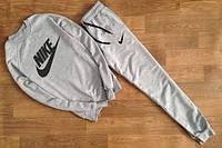 Спортивный костюм Nike серый, черный принт, ф2640