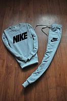 Спортивный костюм Nike серый, модный принт, ф2642
