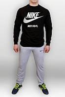 Спортивный костюм найк, черный верх, серый низ, ф2702