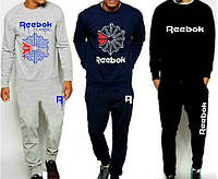 Спортивный костюм Reebok, серый, синий, черный, ф2746