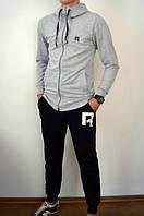 Спортивный костюм Reebok серый верх, черный низ, ф2758