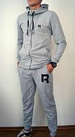 Спортивный костюм Reebok, серый со змейкой, ф2759