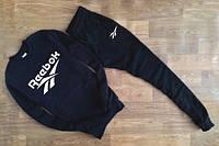 Спортивный костюм Reebok, белый принт, черный цвет, ф2799