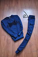 Спортивный костюм Tapout синий, трикотажный, ф2811