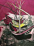 """Эксклюзивный платок по мотивам картины """"Лодки в Сент Мари"""" 85х85 см (цв.10), фото 3"""