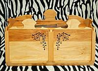 Хлебница деревянная с дощечками (Hand-made)