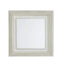 Зеркало Botticelli Treviso ТM -80 белое, патина медь, 800х800 мм