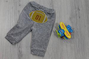 Детские штаны с аппликацией на мальчика материал велюр,  3м, 6м, 12м тм BONNE BABY Турция