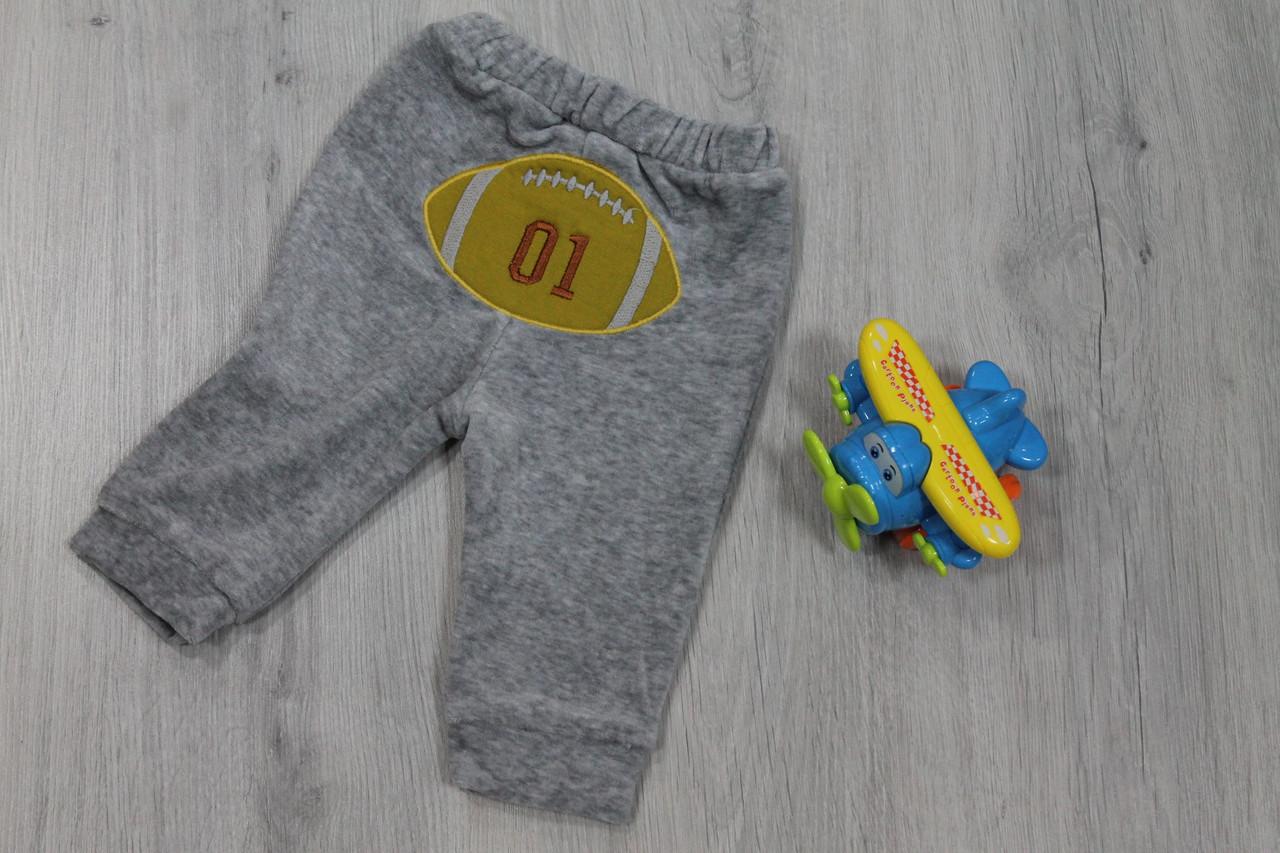 Детские штаны с аппликацией на мальчика материал велюр,  3м, 6м, 12м тм BONNE BABY Турция - Style-Baby детский магазин в Киеве