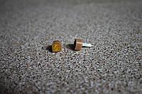 Набойки полиуретановые женские со штырем Supertop 604А, размер - 9*10, цвет - бежевый