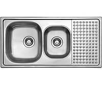 Кухонная мойка из нержавеющей стали LONGRAN ICP 1000.500 18 GT 8K полированная