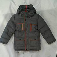Куртка зимняя парка  для мальчика 6-10 лет,серая, фото 1