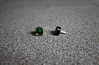 Набойки полиуретановые женские со штырем Supertop 606А, размер - 12*12, цвет - черный
