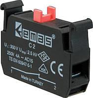 Блок-контакт (1НЗ) для использования с кнопками серии C (для постов)