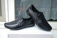 Туфли кожаные ,мокасины кожаные , туфли для подростка 34 , 35 р