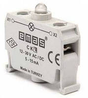 Блок-контакт подсветки с белым светодиодом 12-30 В AC/DC