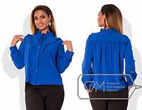 Стильная женская блузка больших размеров е-202300