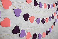 Бумажная гирлянда из сердец