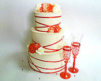 Сундучок Торт свадебный для денег