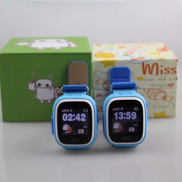 Детские часы-телефон с GPS трекером Q90 Сенсорный экран + WIFI