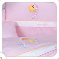 Постельный комплект Tuttolina 7 ЕД. 37 розовый(жирафы)