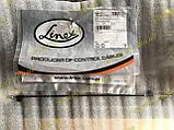 Трос управління нагрівником (грубки) регулювання температури короткий Ланос Сенс Lanos Sens Linex Польща 759204, фото 4