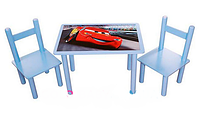"""Столик со стульчиками детский деревянный """"Тачки"""" Bambi F062"""