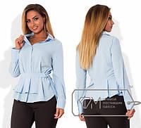 Батальная женская блуза из вискозы