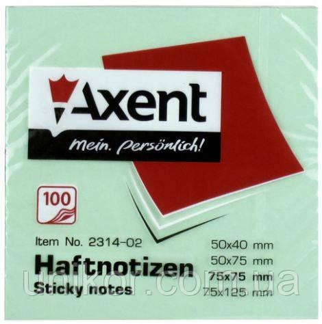 Блок post-it 75*75 мм, 100 листов, пастельный зеленый. AXENT