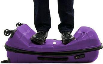 Вместительный замечательный пластиковый 4-колесный чемодан 38 л. Heys Zeus (S) Purple, 923054 фиолетовый, фото 3
