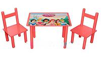 """Столик со стульчиками детский деревянный """"Принцессы"""" Bambi F065"""