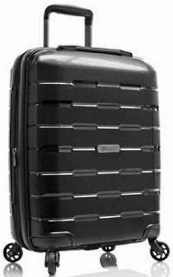 Удобный небольшой пластиковый 4-колесный чемодан 38 л. Heys Zeus (S) Black, 922967 черный