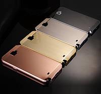 """SAMSUNG NOTE 2 N7100 металлический зеркальный чехол бампер корпус анти отпечаток """"INFINITY PLATINUM"""""""
