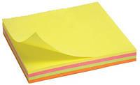 """Блок post-it 75*75 мм, 100 листов, mix rainbow """"Neon"""". AXENT"""