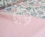 """Лоскут ткания Bora """"Свитерок"""", розовый цвет , фото 3"""