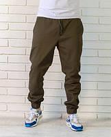 Мужские брюки - джогеры. Цвет-олива.