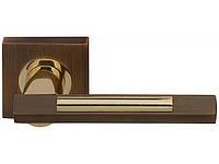 Дверная ручка Fuaro TANGO KM AB/GP-7 (бронза/золото)