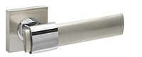 Дверная ручка Fuaro TWIST KM SN/CP-3 (матовый никель/хром)
