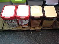 Ведро с крышкой алеана 10 л(цветные)