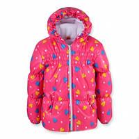 Курточка для девочки на флисе демисезонная Оленка